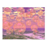 Glorious Skies – Pink and Yellow Dream Abstract Postcard
