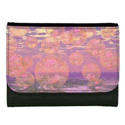 Glorious Skies, Pink and Yellow Dream Abstract Wallet