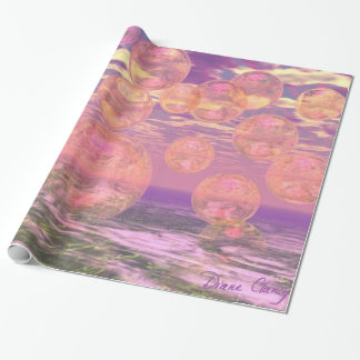 Glorious Skies, Pink and Yellow Dream Abstract Wrapping Paper