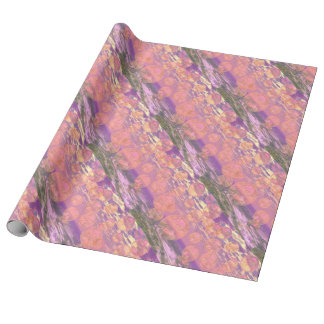 Glorious Skies, Pink and Yellow Dream Abstract Gift Wrapping Paper