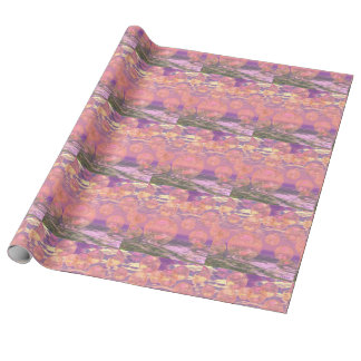 Glorious Skies, Pink and Yellow Dream Abstract Gift Wrap