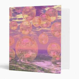 Glorious Skies – Pink and Yellow Dream Vinyl Binder