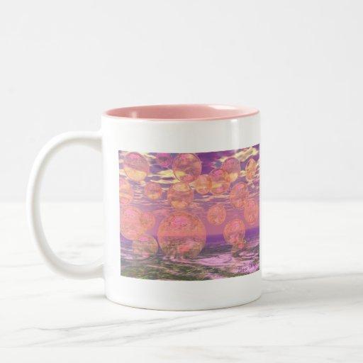 Glorious Skies – Pink and Yellow Dream Two-Tone Coffee Mug
