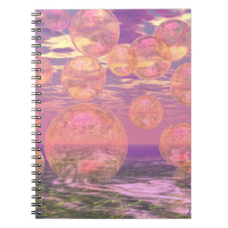 Glorious Skies – Pink and Yellow Dream Spiral Notebook