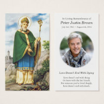 Glorious St Patrick Funeral Sympathy Prayer Card