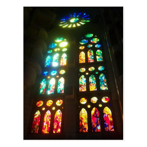 Glorious Stained Glass Windows Postcard