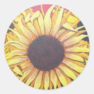 Glorious Sunflowers Classic Round Sticker