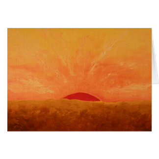 Glorious Sunrise Painting Card