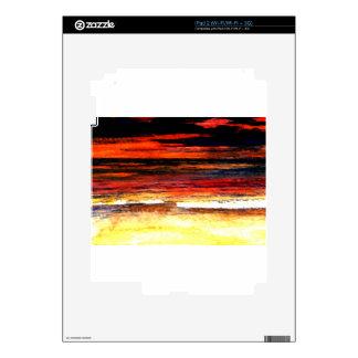 Glorious Sunset Colors Ocean Art Beach Painting iPad 2 Skin