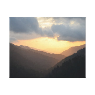 Glorious Sunset in the Great Smoky Mtns Canvas