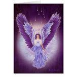Glorious Violet Amethyst Angel Card