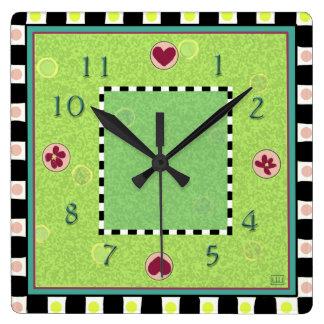 Gloriously Green Clock