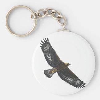 Glorius Golden Eagle Soaring Basic Round Button Keychain