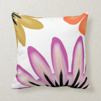 Glory Be. Bold colourful art design flower print. Pillow