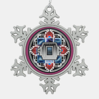 glory deco 2 snowflake pewter christmas ornament