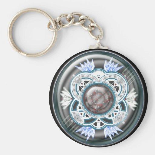 glory deco basic round button keychain