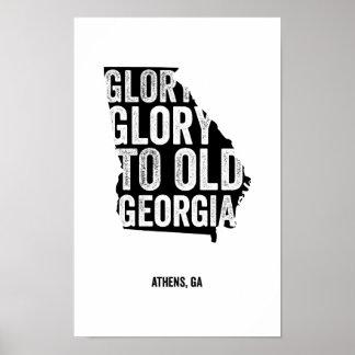 Glory Glory Black Print