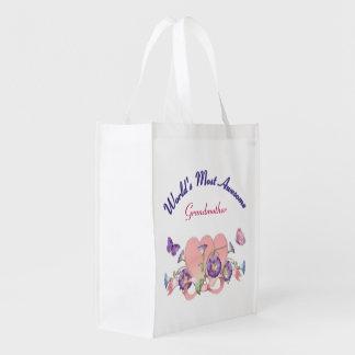 Glory Love for Grandmother Designer Bag Reusable Grocery Bags