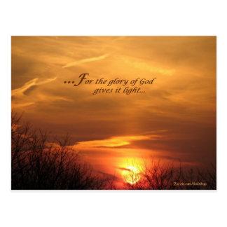 Glory of God Postcard