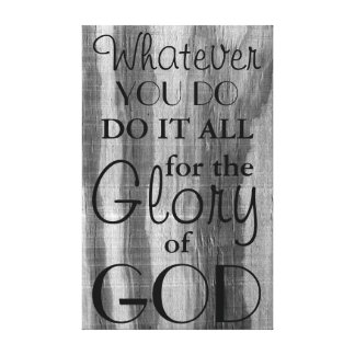 Glory of God wrapped canvas Canvas Print