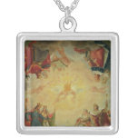 Glory of St. Genevieve Square Pendant Necklace