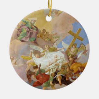 Glory of the New Born Christ by Daniel Gran Ceramic Ornament