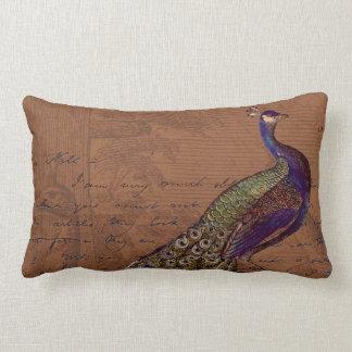 Glory of the Peacock #1 Lumbar Pillow