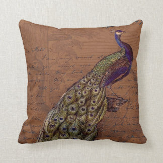Glory of the Peacock #1 Throw Pillow