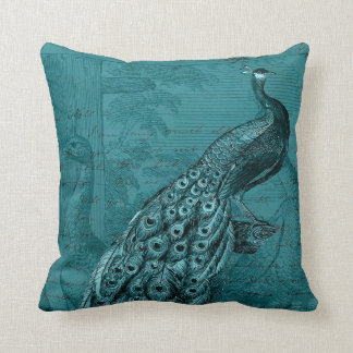 Glory of the Peacock #2 Throw Pillow