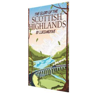Glory of the Scottish Highlands Canvas Print