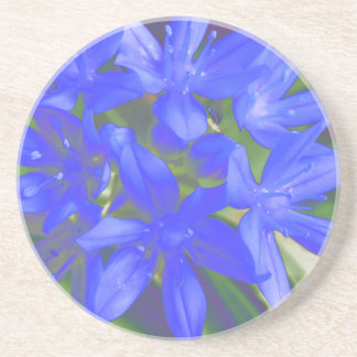 Glory Of The Snow Fluorescent Blue Coasters