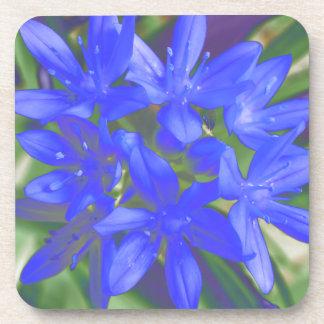 Glory of the Snow Fluorescent Blue Cork Coaster