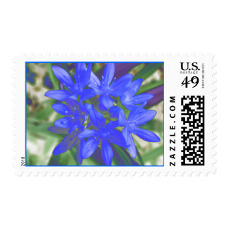 Glory Of The Snow Fluorescent Blue Postage Stamp
