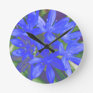 Glory of the Snow Fluorescent Blue Wall Clock