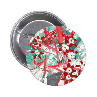 Glory of the Snow - Red and Turquoise Buttons