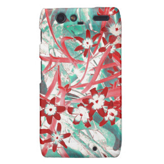 Glory of the Snow - Red and Turquoise Motorola Droid RAZR Cases