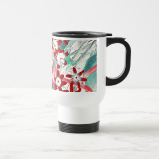 Glory of the Snow - Red and Turquoise Mug