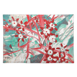 Glory of the Snow - Red and Turquoise Placemat