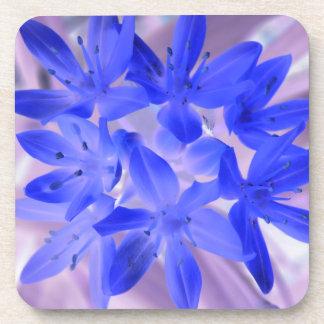 Glory of the Snow Shocking Blue Cork Coaster