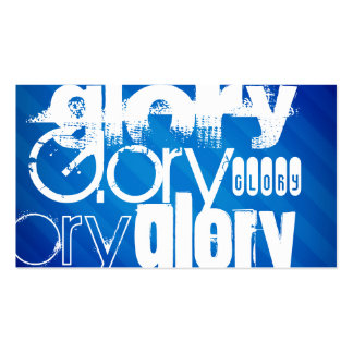 Glory; Royal Blue Stripes Double-Sided Standard Business Cards (Pack Of 100)