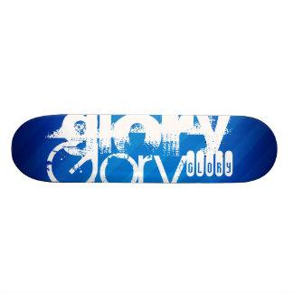 Glory; Royal Blue Stripes Skateboard