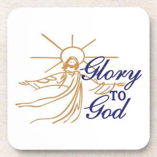 Glory To God Drink Coaster