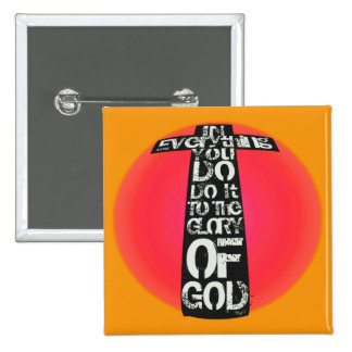 Glory to God Gifts & Greetings 2 Inch Square Button