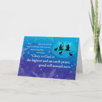 Glory to God in the Highest Christmas Card (blues)
