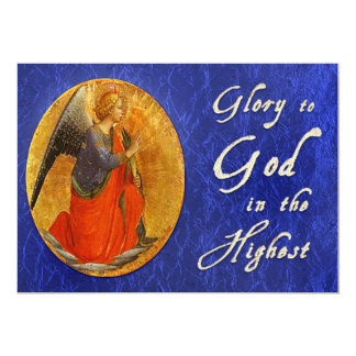 Glory To God In the Highest Religious Christmas Card