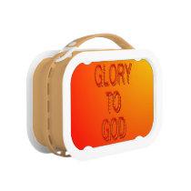 Glory to God (orange) Lunch Box