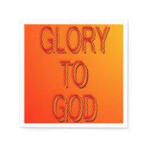 Glory to God (orange) Napkins