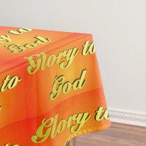 Glory to God (orange) Tablecloth