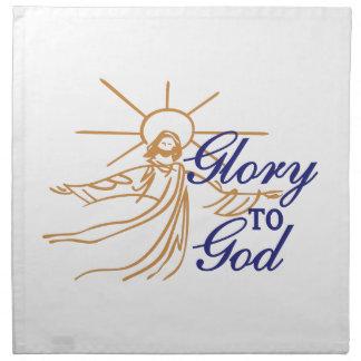 Glory To God Printed Napkins