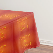 Glory to God (red-orange non-script) Tablecloth